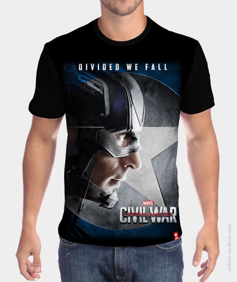 Camiseta Team Cap - Guerra Civil - comprar online