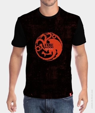 Camiseta Game of Thrones  - Símbolo Fire and Blood