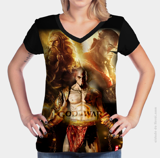 Camiseta Kratos e Zeus - God of War na internet