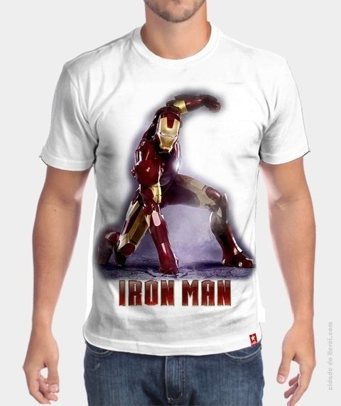Camiseta homem de ferro - the iron man - marvel