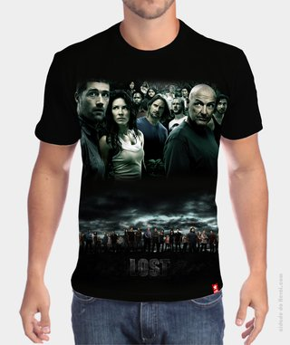 Camiseta Personagens - Lost