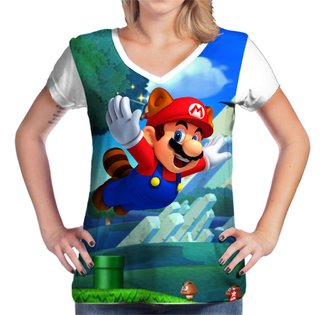 Camiseta Mario Bros World na internet