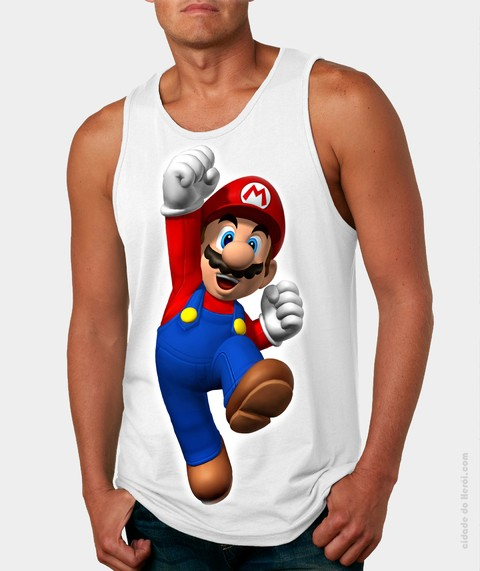 Camiseta Regata Mario Bros
