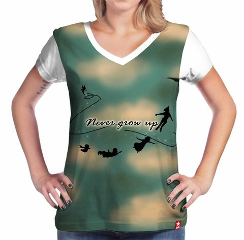 Camiseta Never grow up - Peter Pan