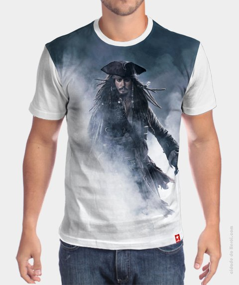 Camiseta No Fim do Mundo - Piratas do Caribe