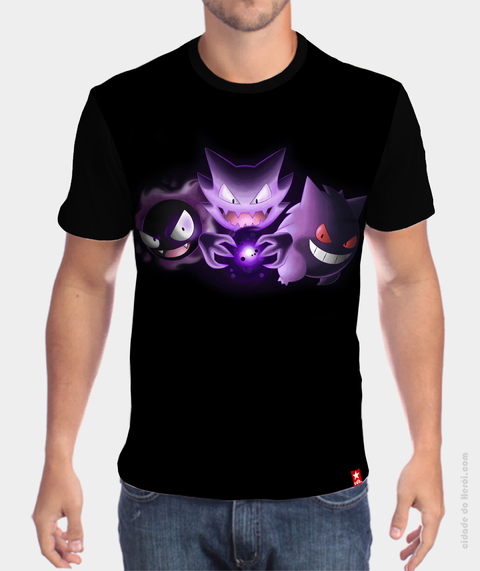Camiseta Gastly, Haunter, Gengar - Pokémon