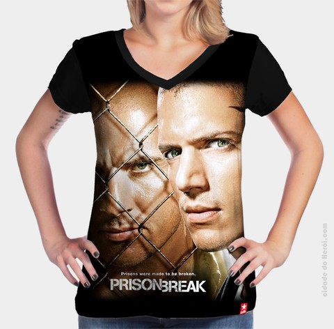 Camiseta Michael Scofield & Lincon Burrows - Prison Break