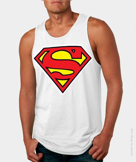 Camiseta Regata Superman Símbolo