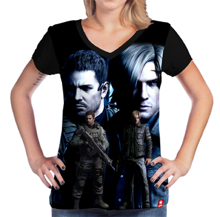 Camiseta Chris Redfield e Leon Kennedy - Resident Evil - comprar online