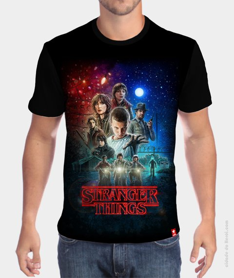 Camiseta Personagens - Stranger Things