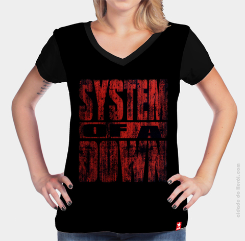 Camiseta Logo - System of a Down