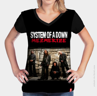 Camiseta Mezmerize - System of a Down na internet