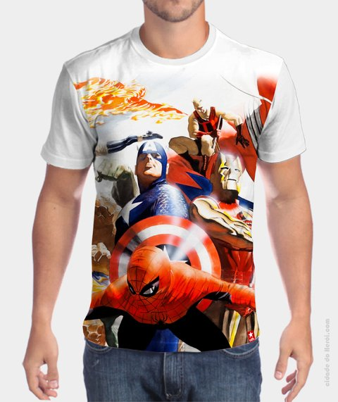Camiseta The Avengers Golden Age - Vingadores