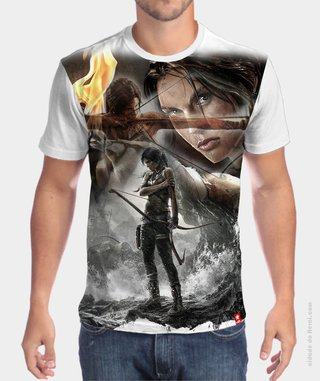 Camiseta Lara Croft Reborn - Tomb Raider