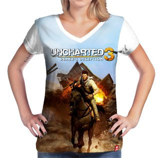 Camiseta Uncharted na internet