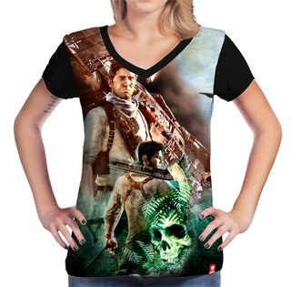 Camiseta Nathan Drake - Uncharted na internet