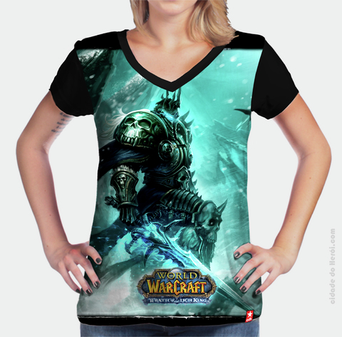 Camiseta Wrath of Lich King - World of Warcraft