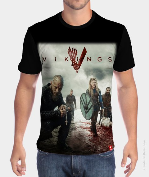 Camiseta Vikings Personagens