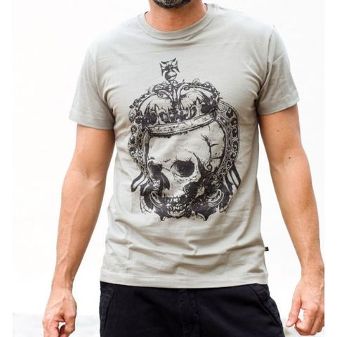 Camiseta King of Skull Cinza - HARDIVISION