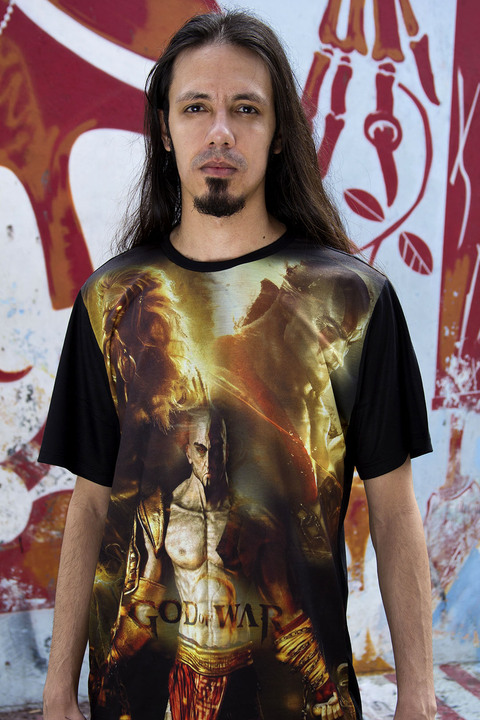 Camiseta Kratos e Zeus - God of War