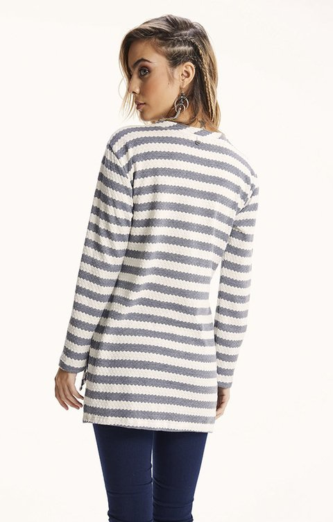 I527 sweater largo con aplique BROAD - comprar online