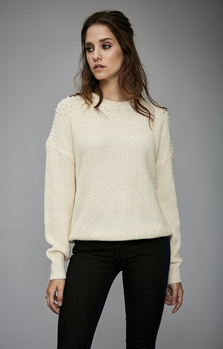 i536 Sweater bordado perlas
