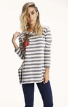 I527 sweater largo con aplique BROAD