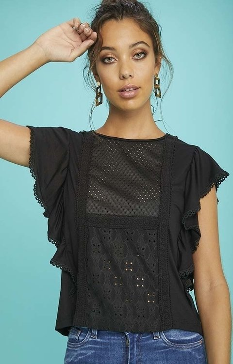 k358 camisola Broderie XIMA