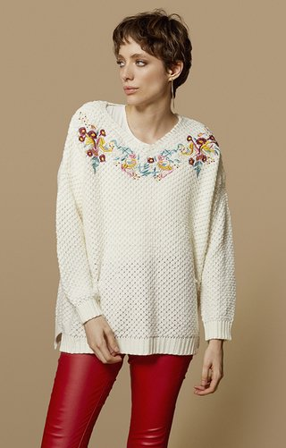 I567	Sweater bordado flores 	Katia