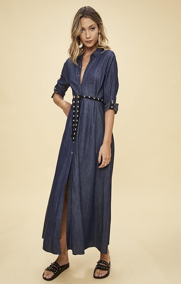 L650 vestido largo  denim 	Adrica