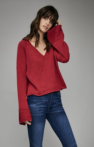 I588 Sweater Basico manga Oxford	Saba