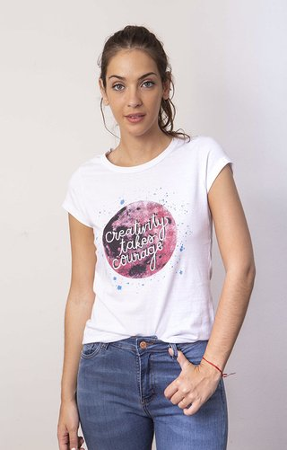 B494 Remera estampada MOON