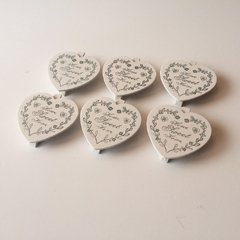 "BROCHES CORAZON ""HOME SWEET HOME"" 7.5x8 cm.CDC131 - comprar online"