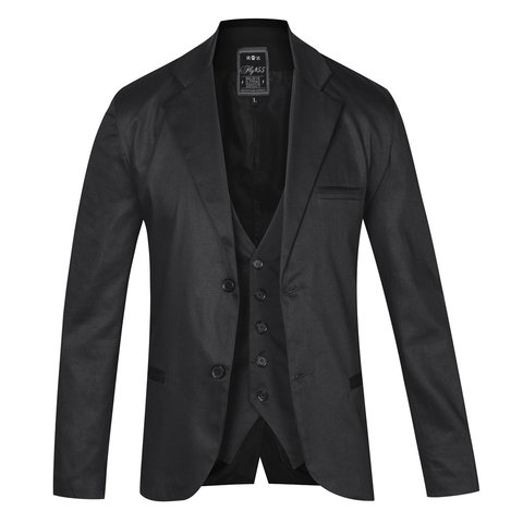 Traje Negro satinado slim fit Mike Milion