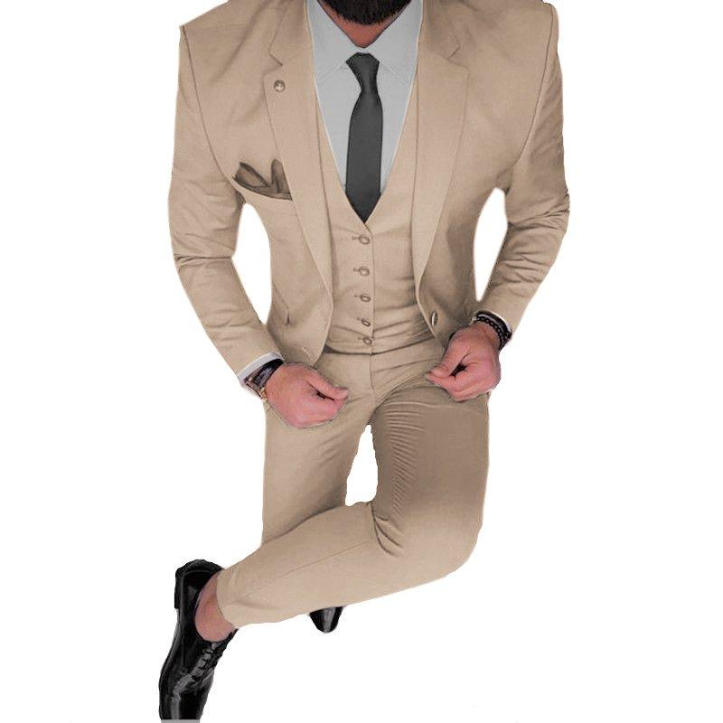 9a9bc1f2 Traje beige satinado slim fit + Zapatos Charol + Camisa slim fit