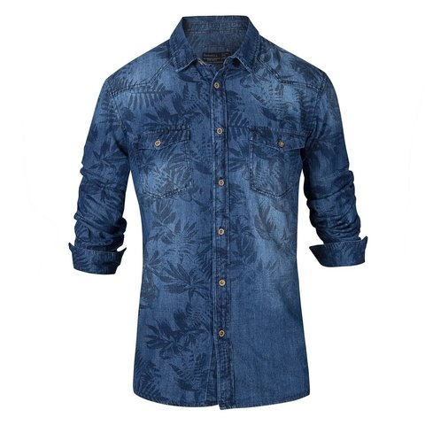 Camisa Palm Jean ¡Último talle!