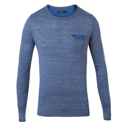 Sweater Rick azul Slim fit - comprar online