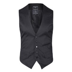 Traje Negro satinado slim fit Mike Milion - QUALITY IMPORT USA