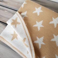 MANTITA REVERSIBLE STARS ARENA Y NATURAL 105x80 CM