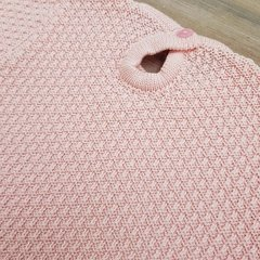 SWEATER PUNTO ARROZ ROSA BEBÉ