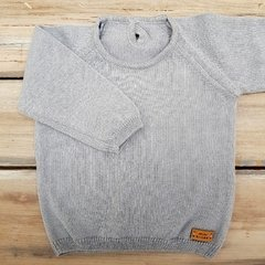 SWEATER LISO GRIS ACERO