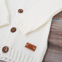 CARDIGAN CON CAPUCHA NATURAL - Mini Anima