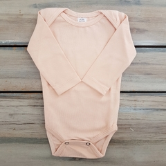 BODY MANGA LARGA SALMON PASTEL