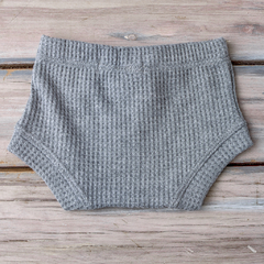 MINI SHORT PANAL GRIS TOPO - Mini Ánima