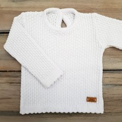 SWEATER PUNTO ARROZ BLANCO