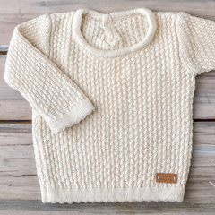 SWEATER PUNTO ARROZ CRUDO