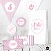 Kit Imprimible Wedding Rosa Blanco Candy Bar