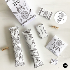 Kit Imprimible Boho Negro Blanco Candy Bar