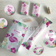 Kit Imprimible Flamencos Candy Bar TuKit
