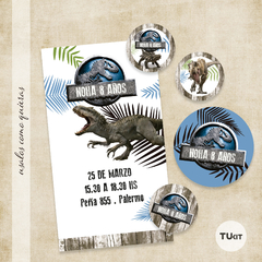Kit imprimible jurassic world tukit - comprar online
